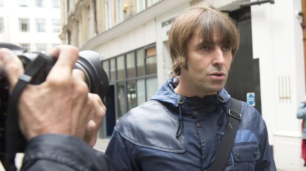 Singer Liam Gallagher arrives at the Central Family Court in London where he his embroiled in a family court dispute with ex-wife Nicole Appleton