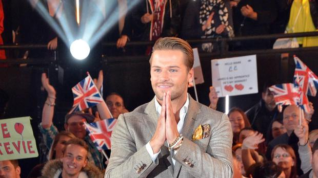 James Hill leaving the Big Brother house after winning Celebrity Big Brother 2015 (Channel 5)