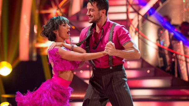 Peter Andre picked up most points with his cha cha cha in Strictly Come Dancing (PA/BBC)