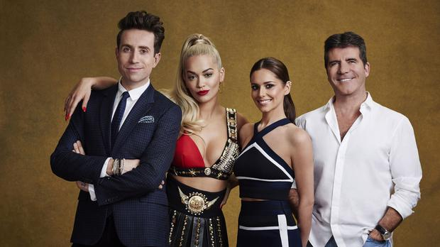 This year's X Factor judges (left to right) Nick Grimshaw, Rita Ora, Cheryl Fernandez-Versini and Simon Cowell (Syco/Thames TV/PA)