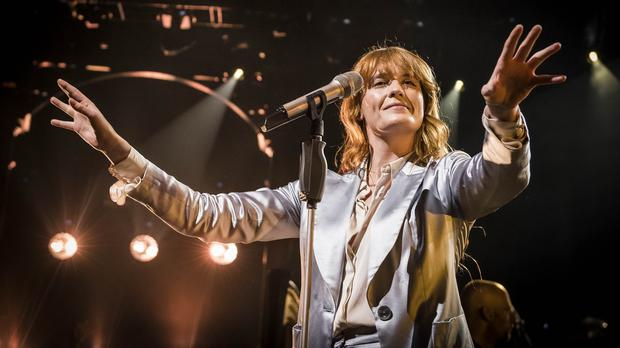 Florence Welch on stage as Florence + The Machine closed the Apple Music Festival at the Roundhouse
