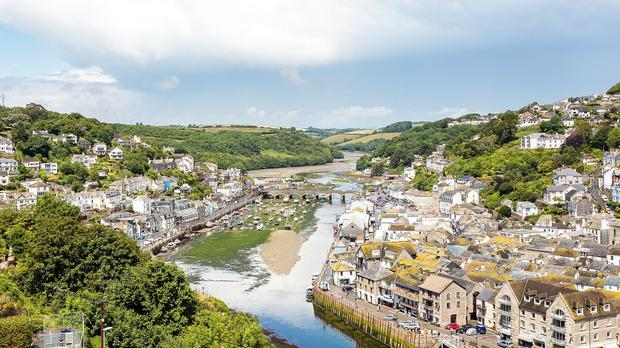 The view from Dawn French's holiday home in West Looe, Cornwall (Tepilo/PA Wire)
