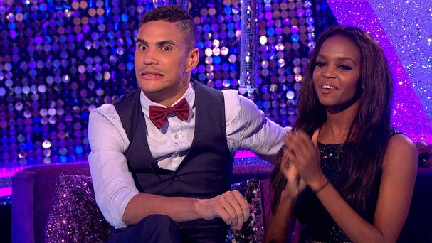 Strictly Come Dancing star Anthony Ogogo with his dance partner Oti Mabuse on BBC Two's It Takes Two (BBC/PA)