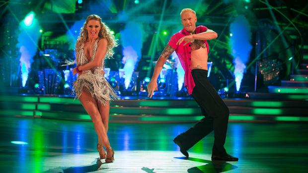 Ola Jorda and Iwan Thomas were the first to be voted off Strictly Come Dancing (BBC/PA Wire)
