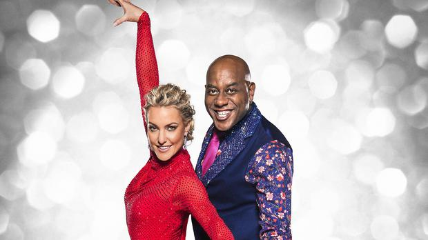 Ainsley Harriott with his dance partner Natalie Lowe before the start of this year's Strictly Come Dancing (BBC/PA)