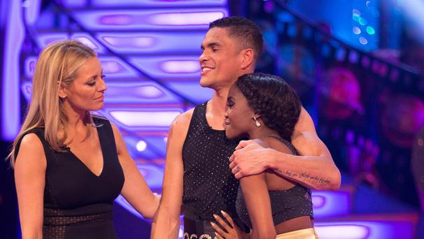 Anthony Ogogo and partner Oti Mabuse lost out to chef Ainsley Harriott and Natalie Lowe in the dance off (BBC/PA Wire)