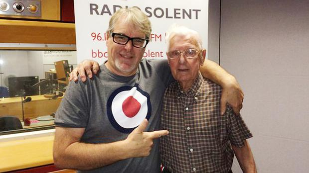 BBC presenter Alex Dyke, left, and Bill Palmer after the pensioner called a phone-in show to say how lonely he is (BBC/PA Wire)