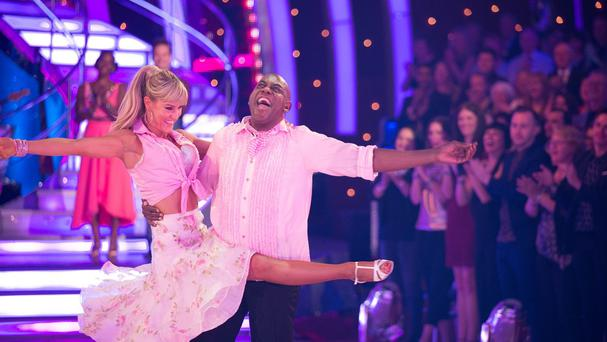 Ainsley Harriott and Natalie Lowe during their final dance after becoming the fourth couple to exit Strictly Come Dancing (BBC/PA)