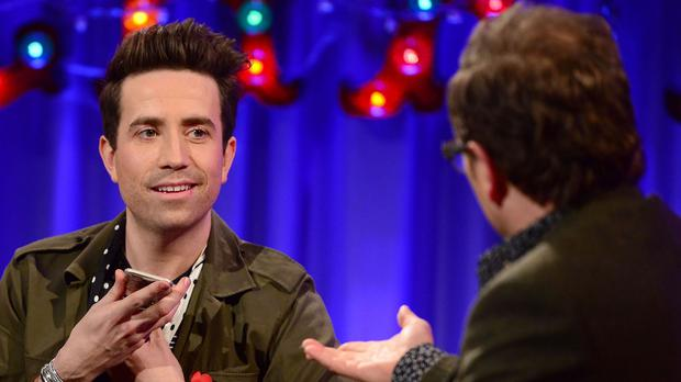 Nick Grimshaw appears on Channel 4's Alan Carr: Chatty Man (Channel 4/PA)