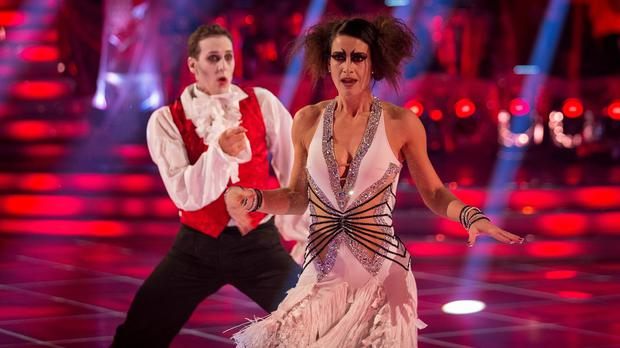 Kirsty Gallacher and her dance partner Brendan Cole (BBC/PA)
