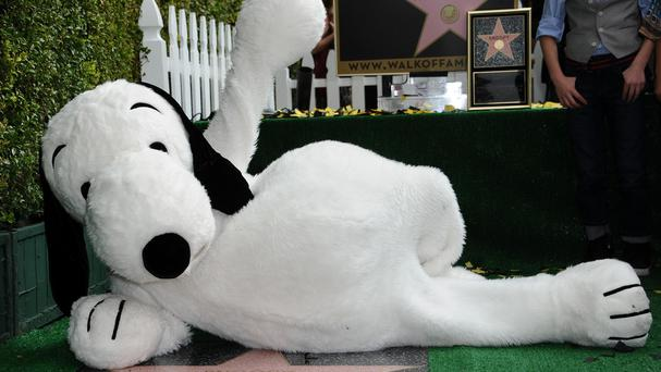 Snoopy is honoured with a star on the Hollywood Walk of Fame (Invision/AP)