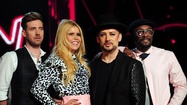 The Voice coaches Ricky Wilson, Paloma Faith, Boy George and Will.i.am