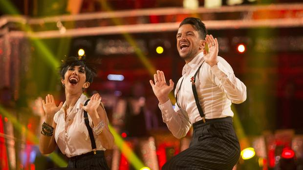 Peter Andre and his dance partner Janette Manrara (BBC/Guy Levy/PA)