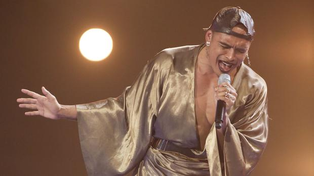Seann Miley Moore paid tribute to mentor Nick Grimshaw after being voted off the X Factor (PA/SYCO/THAMES TV)