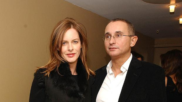 Trinny Woodall and her late ex-husband Johnny Elichaoff