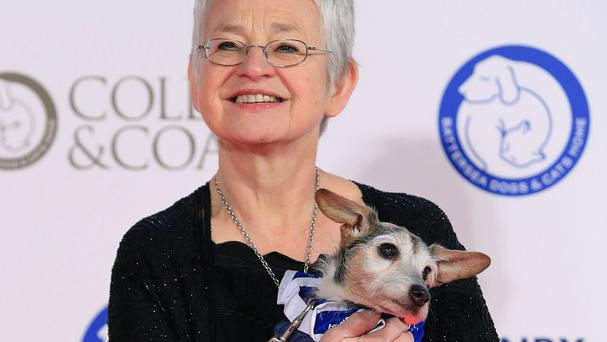 Dame Jacqueline Wilson arrives for the Collars and Coats Gala Ball in aid of Battersea Dogs and Cats Home
