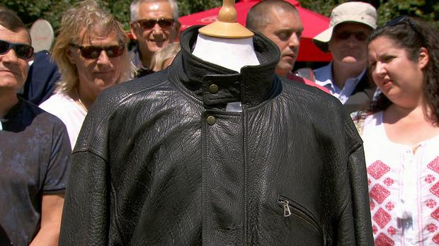 The leather jacket that belonged to former US president John F Kennedy (BBC/PA)