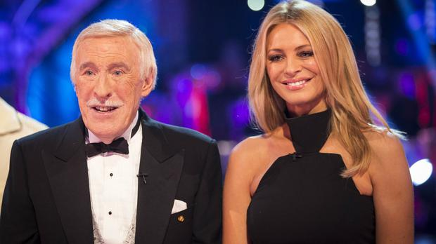 Sir Bruce Forsyth and Tess Daly on Strictly