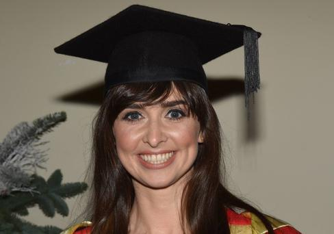 Dr. Aoibhinn Ni Shuilleabhain after receives her PhD in Mathematics Education today at Trinity College, Dublin, Ireland - 27.11.15. Pictures: Cathal Burke / VIPIRELAND.COM