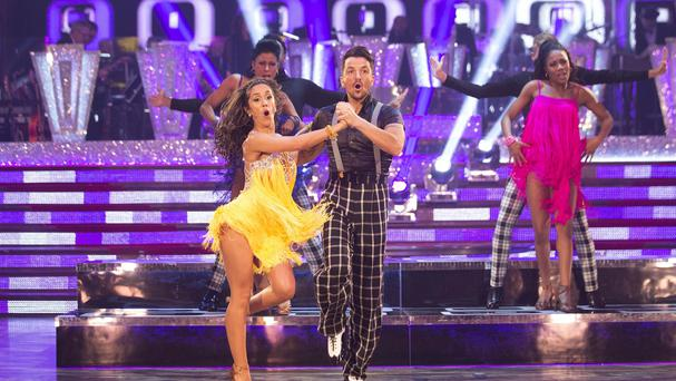 Janette Manrara and Peter Andre on Strictly Come Dancing as the show's costumer designer Vicky Gill has won a Royal Television Society award