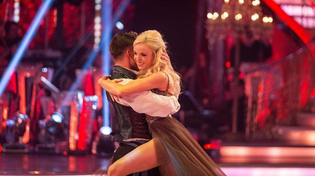 Aljaz Skorjanec and Helen George have been eliminated from Strictly Come Dancing (BBC/PA)