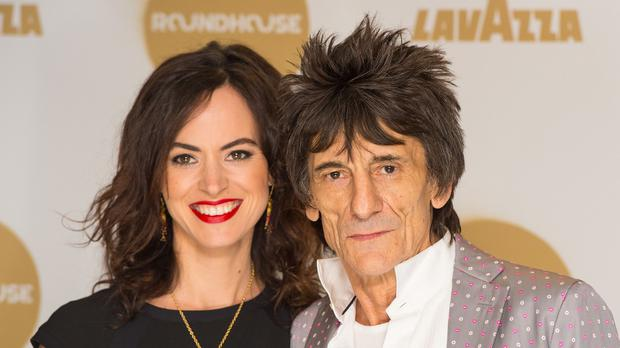 Ronnie Wood and his wife Sally