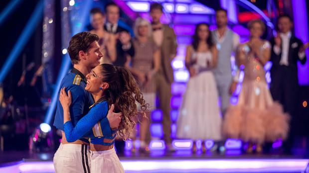 Anita Rani and Gleb Savchenko take their final dance during the Strictly Come Dancing results show (BBC/PA)