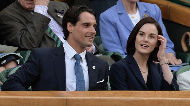 Michelle Dockery and John Dineen attended Wimbledon last year