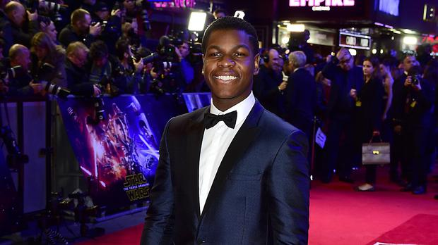 John Boyega at the Star Wars: The Force Awakens European premiere in Leicester Square, London (Ian West/PA Wire)