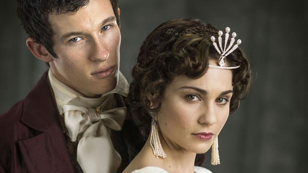 Anatole Kuragin, played by Callum Turner, and Helene Kuragin, played by Tuppence Middleton, in the BBC adaptation of War and Peace (BBC/PA)