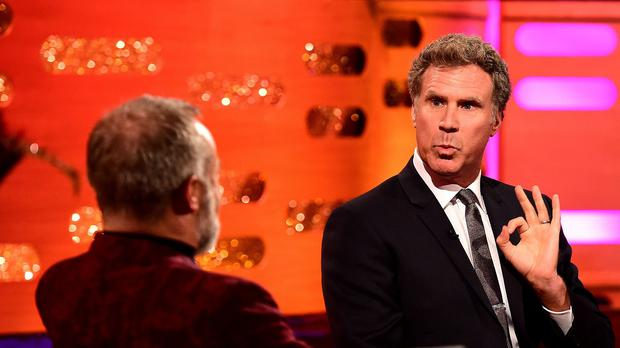 Will Ferrell during filming of The Graham Norton Show