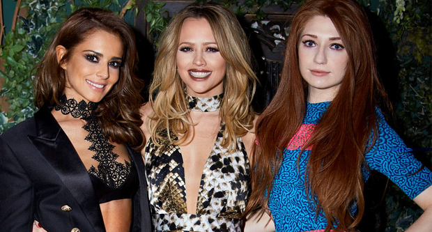 Cheryl Fernandez-Versini, Kimberley Walsh and Nicola Roberts on the cover of the new edition of Hello! magazine