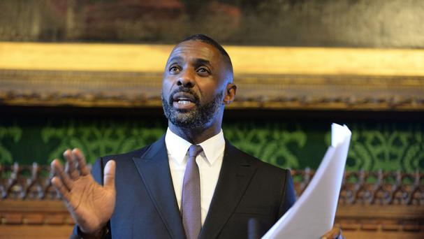 Idris Elba speaking about diversity in television for Channel 4's 360 diversity event at the Houses of Parliament.