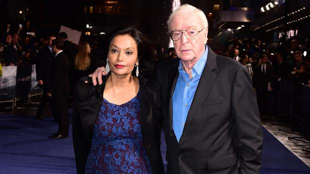 Sir Michael Caine and his wife Shakira