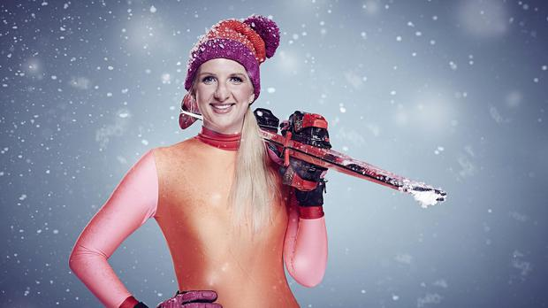 Rebecca Adlington is one of 12 celebrity contestants who have to brave the new ski jump