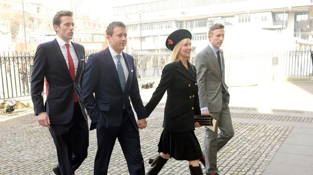 Sir David Frost's family pictured arriving at his memorial service