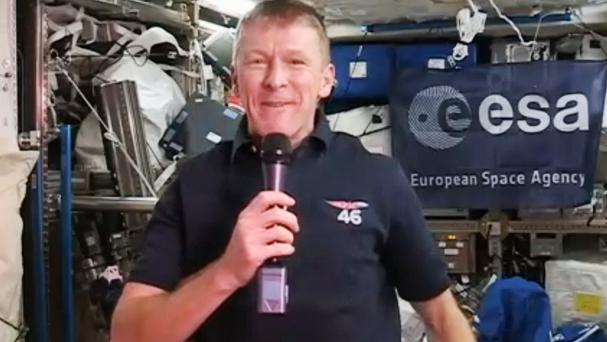 British astronaut Major Time Peake answered Radio 2 listeners' questions from the International Space Station