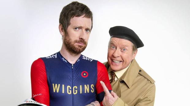 Frank Spencer, played by Michael Crawford, will once again land himself in a few of his usual comedy disasters, culminating in a meeting with Olympic cyclist Sir Bradley Wiggins (BBC/PA)