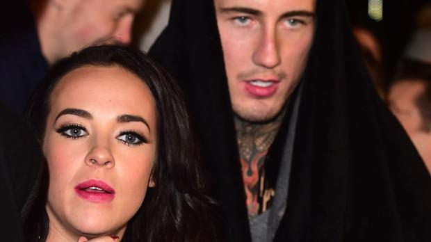 Stephanie Davis with Jeremy McConnell outside the Celebrity Big Brother house after she was evicted. The couple have now split up