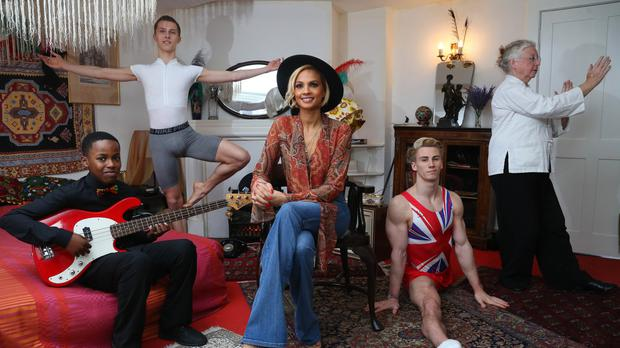 Alesha Dixon with representatives from four projects funded by National Lottery Good Causes