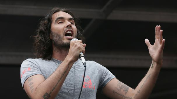 Comedian Russell Brand.