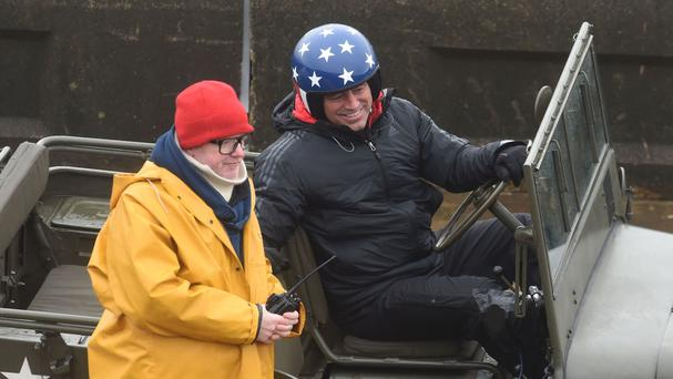 Chris Evans and Matt LeBlanc filming Top Gear in Blackpool