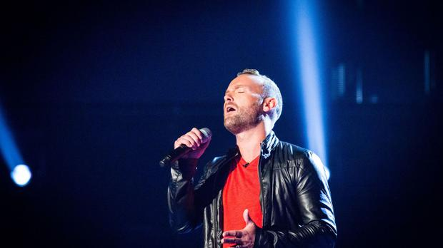 Kevin Simm performs on The Voice