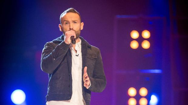 The Voice contestant Kevin Simm made it to the knockout stage after being saved by coach Ricky Wilson (BBC/PA Wire)