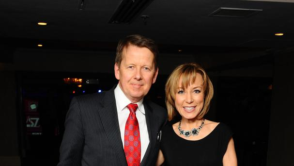 Bill Turnbull received his award from Sian Williams