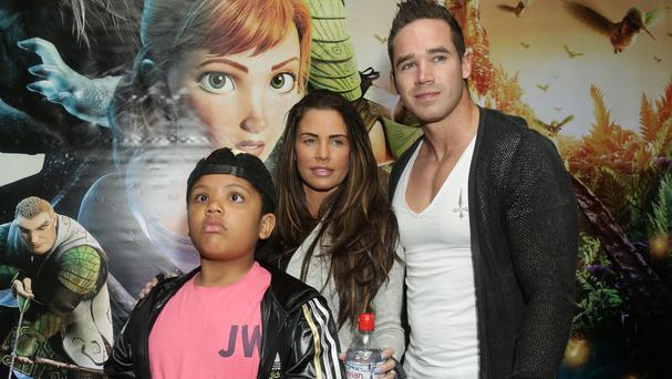 Katie Price with her son Harvey and husband Kieran Hayler