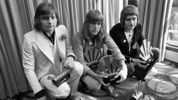 Greg Lake, Keith Emerson and Carl Palmer (left to right) in 1972