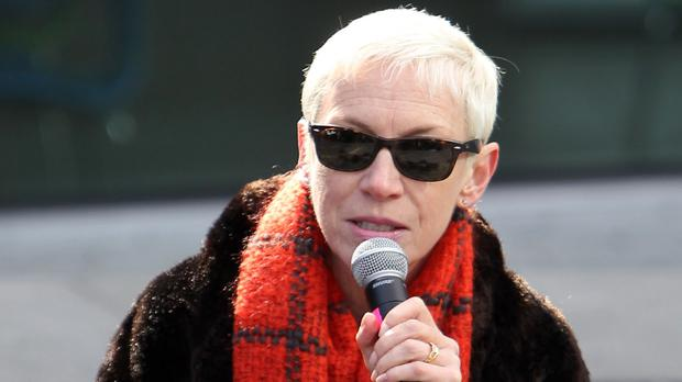 Singer Annie Lennox says she turns to yoga to keep calm