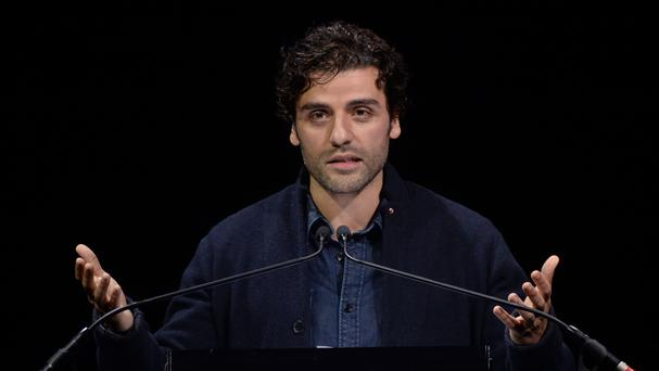 Oscar Issac takes part in the fourth night of the Letters Live series in London