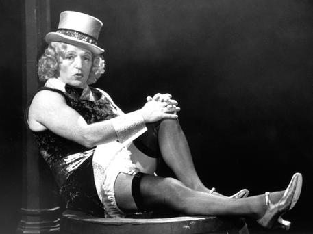 Paul Daniels adopting the Marlene Dietrich look for an episode of 'The Paul Daniels Magic Show' on BBC in the 1980s. Photo: PA